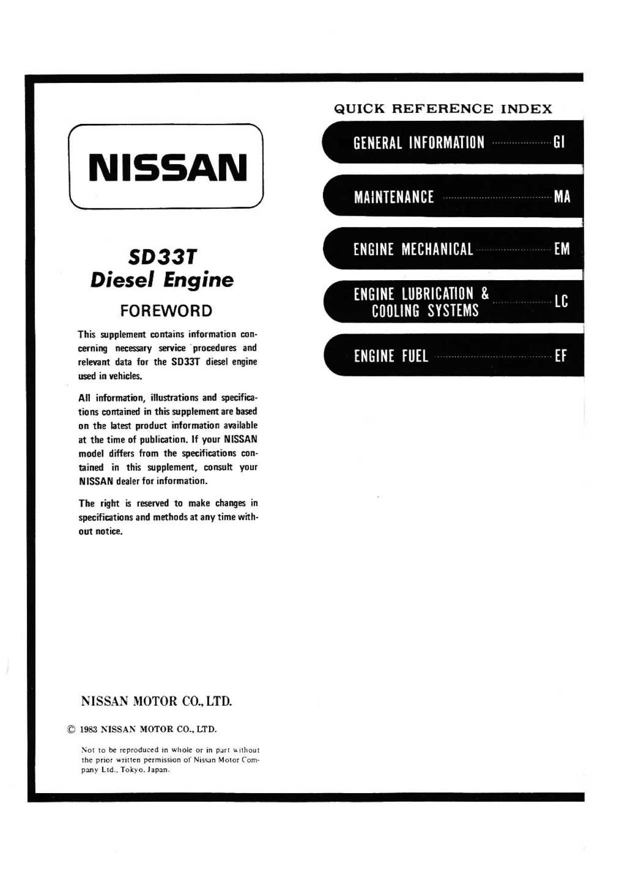 sd series diesel engine service manual