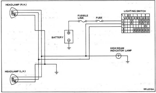 gq headlight wiring diagram example electrical wiring diagram u2022 rh cranejapan co Chevy Headlight Wiring Diagram nissan patrol gq headlight wiring diagram