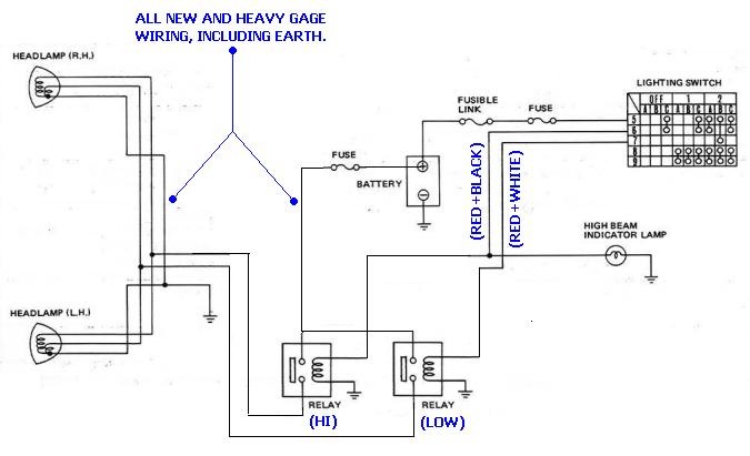 gq headlight wiring diagram example electrical wiring diagram u2022 rh cranejapan co Chevy Headlight Wiring Diagram gq headlight wiring diagram